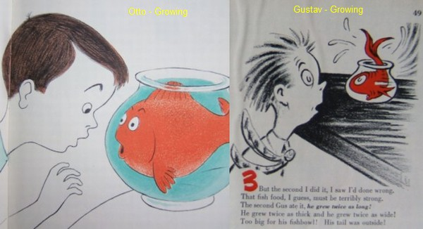 A story of two fish dr seuss out of water collecting for Fish children s book